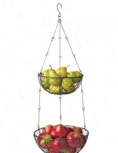 2-tiered Hanging Basket