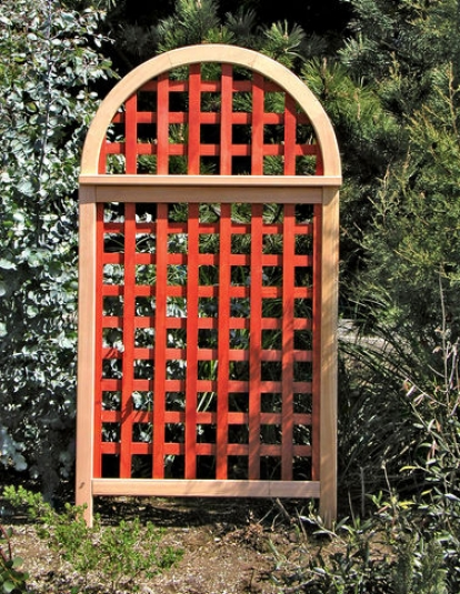 Andover Cedar Landscape Screen, Stained