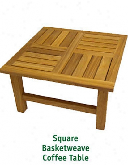 Basketweave Rectangular Table, Medium
