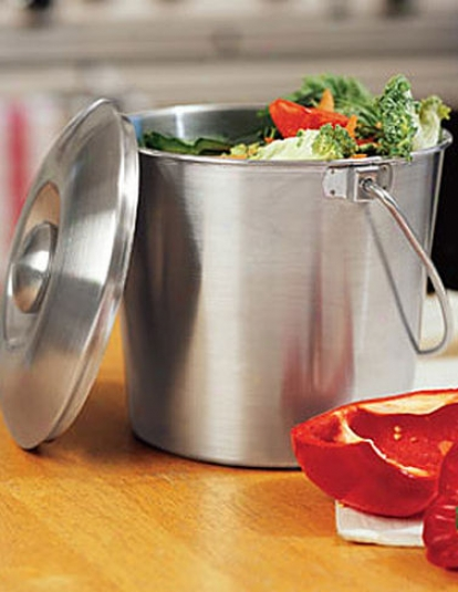 BrushedS tainless Steel Compost Pail