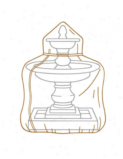 "Deluxe 50"" High Fountain Cover"