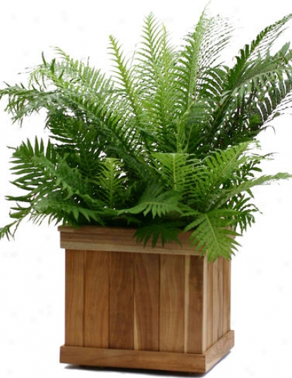 Estate Teak Planter, Square 28""