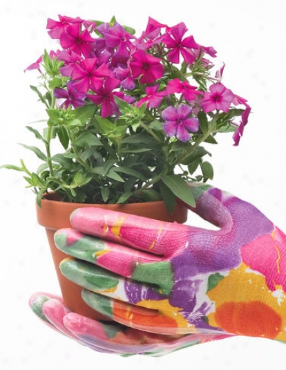 Floral Nitrile Gloves