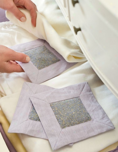 Lavender Drawer Sachets, Set Of 3