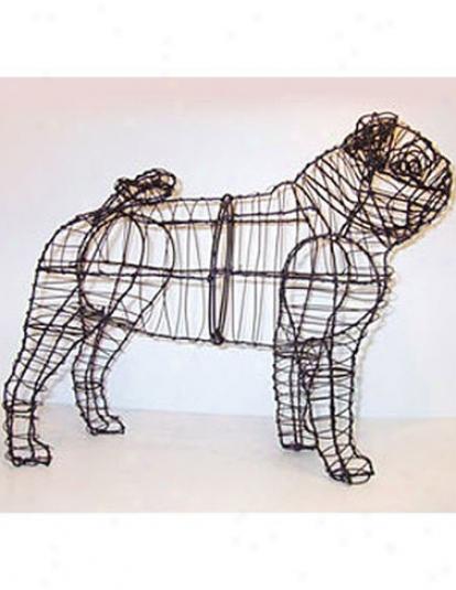 Pug Topiary Frame