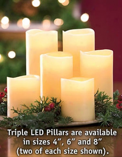 Triple Led Pillar, 4""
