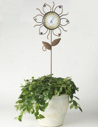 Whimsical Flower Thermometer