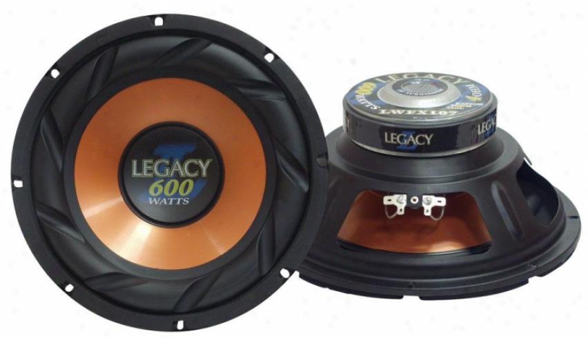 10'' 600 Watt Legacy ''l'' Series Subwoofer