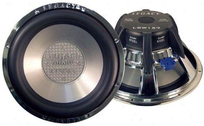 15 4000 Watt Legacy Steel Series Woofer
