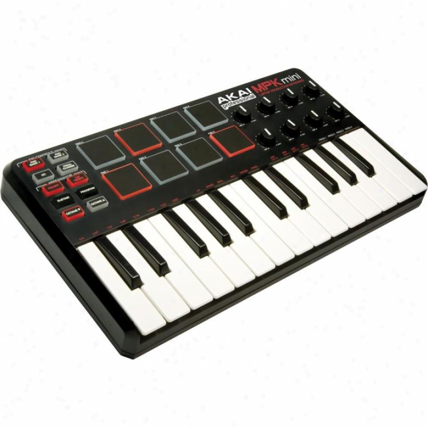 Akai Mpk Mini Keyboard & Drum Pads W/ Assignable Controls