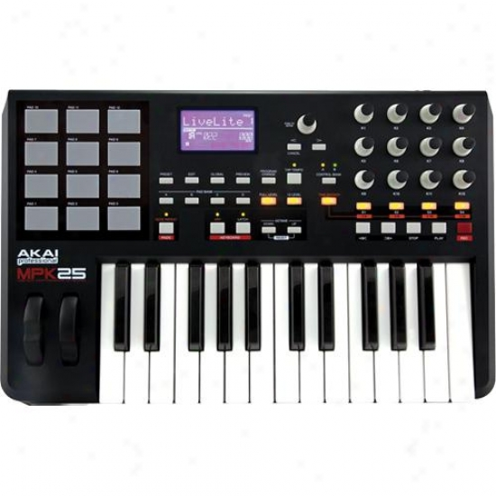Akai Mpk25 25-key Keyboard Contorller With Mpc Pads