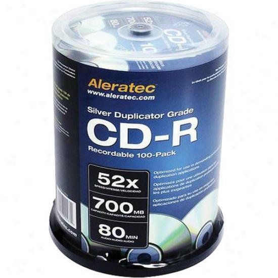 Aleratec 52x Cd-r Media 100-pack