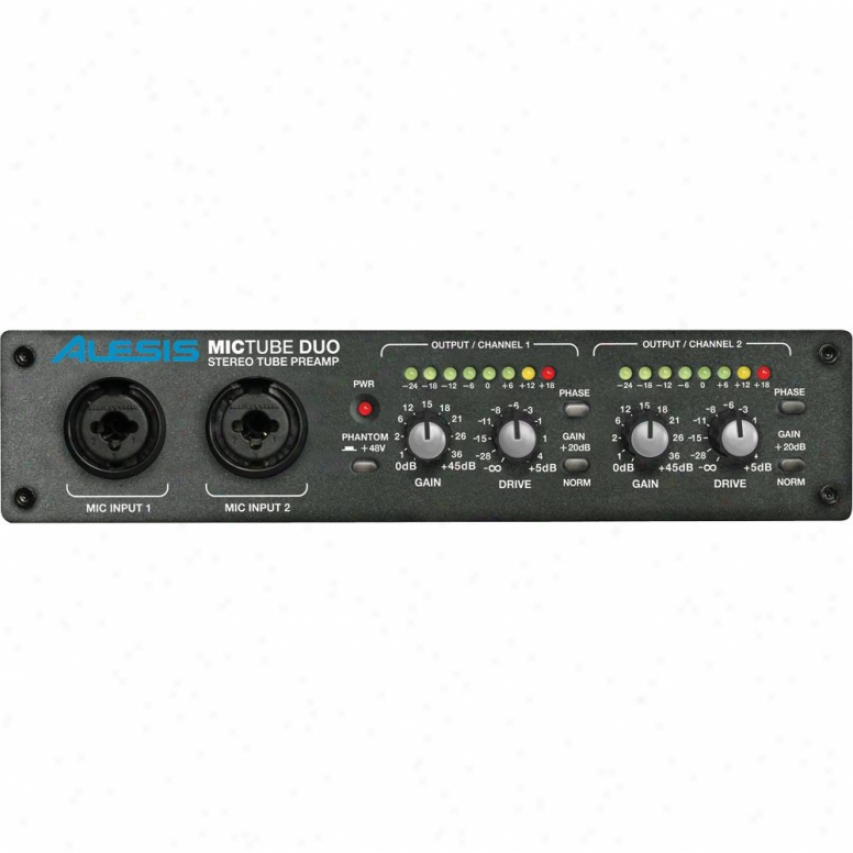 Alesis Mictub Duo Stereo Tube Microphone Preamplifier