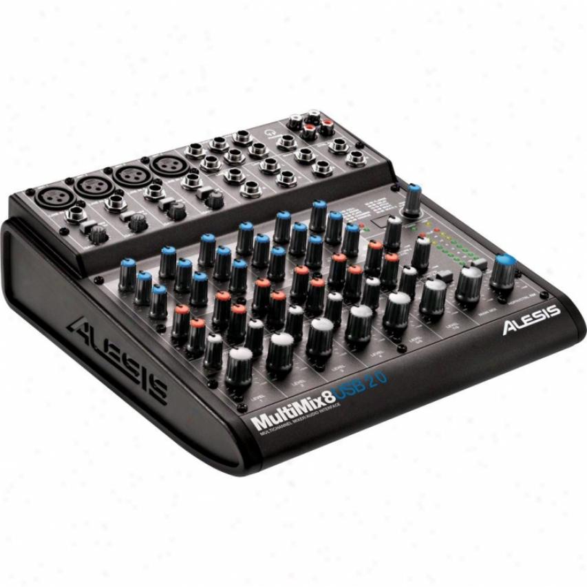 Alesis Mmix8usb2 Multimix 8U sb 2.0 Audio Interface And Mixer