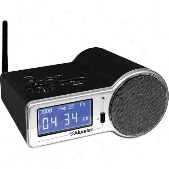 Aluratek Airmm01f Intednet Radio Alarm Clock Through  Built-in Wifi