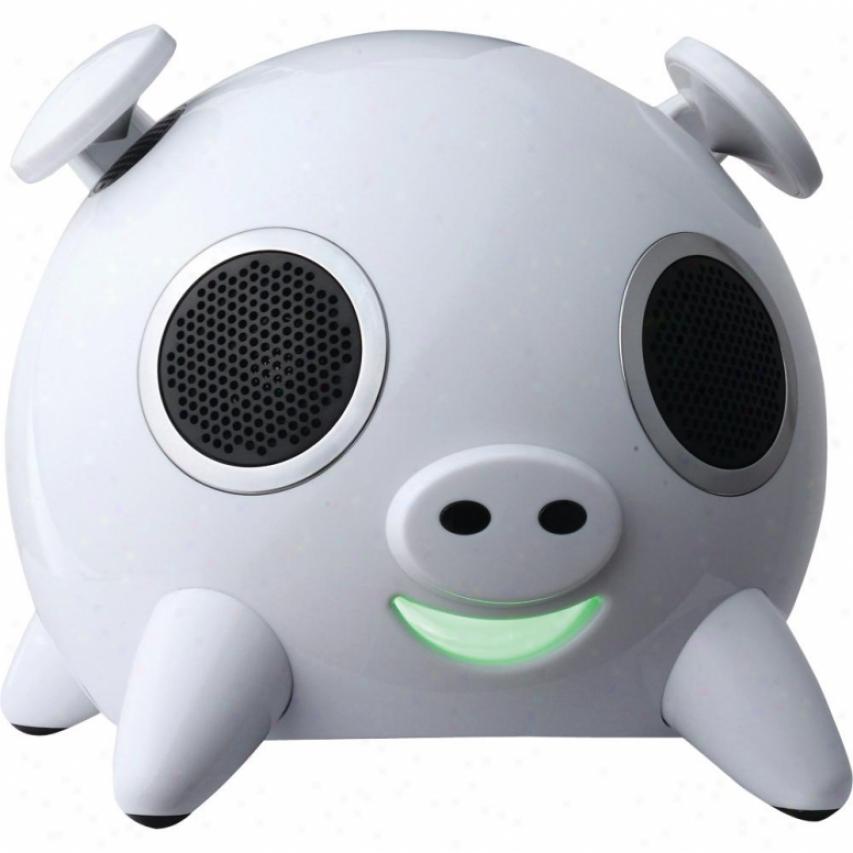 Amethyst Ipig Bluetooth Speaker White