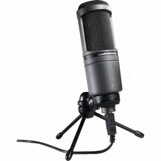 Audio Technica At2020usb Studio Condenser Usb Microphone