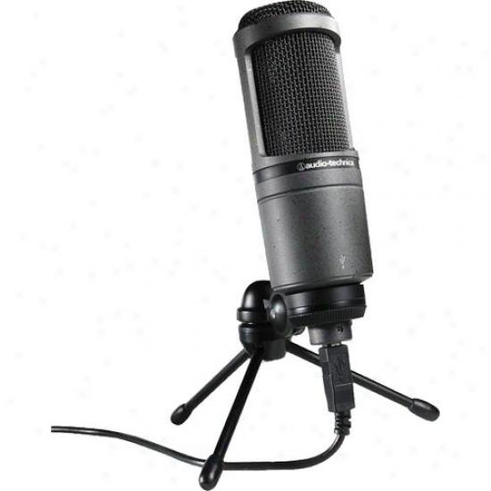 Audio Technica At2020usb Studio Condenser Usb Microphone
