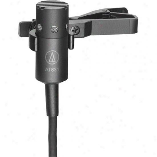 Audio Technica At831b Mini Cardioid Condenser Lavalier Miceophone