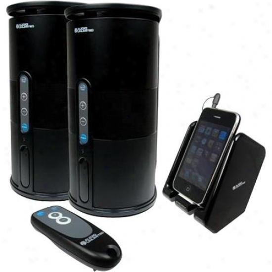 Audio Unlimited Open Box Premium 900mhz Wireless Indoor/outdoor Speakers - Black