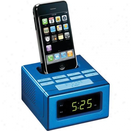 Audiovox Rca Clock Radio With Iphone Dock Rc130i Blue
