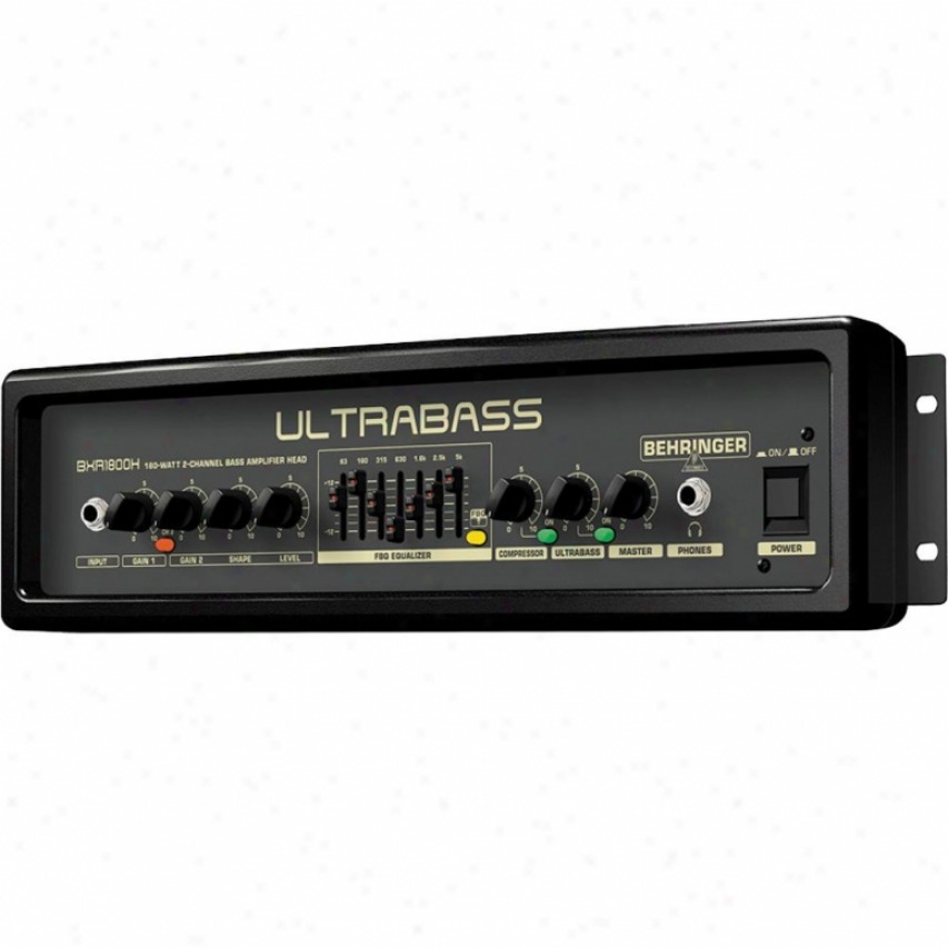 Behringer Ultrabass-1800 Ultra-compact 180-watt 2-channel Baes Amplifier Head