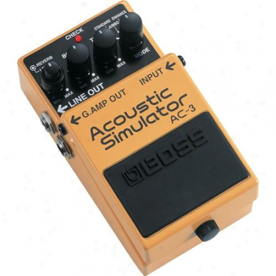 Boss Ac-3 Acoustic Simulator With Reverb Pedal