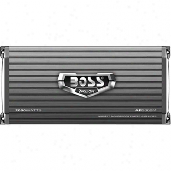 Boss Audio 1 Channel 2000 Watt Armor Mosfet Power Amplifier Ar2000m