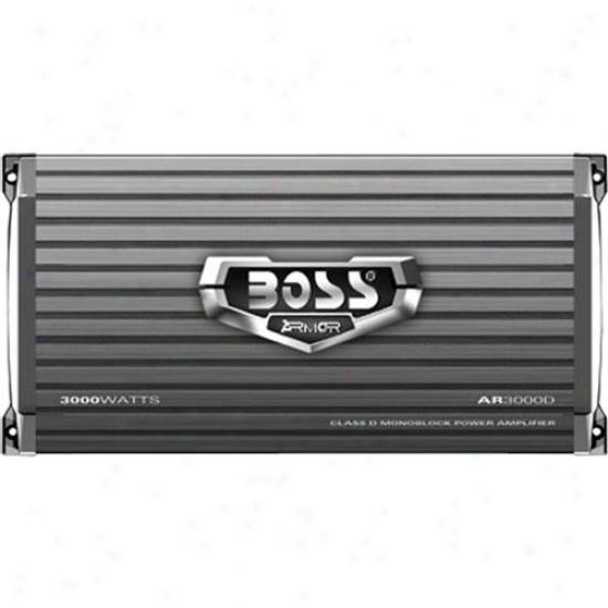 Boss Audio 1 Channel 3000 Watt Armor Mosfet Class D Power Amplifier Ar3000d