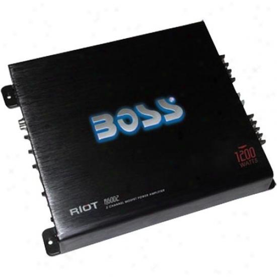 Boss Audio 1200 Watt Riot 2 Channel Mosfet Power Amplifier R6002