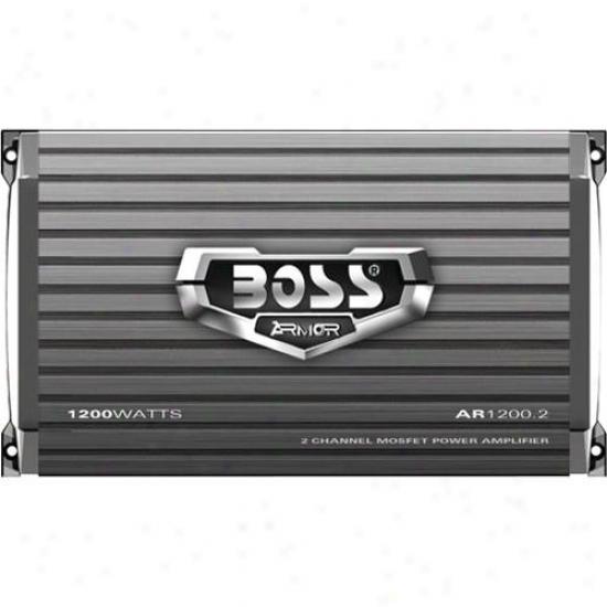 Boss Audio 2 Channel 1200 Watt Armor Mosfet Power Amplifier Ar1200.2