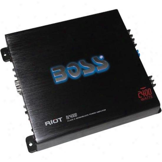 Boss Audio 2400 Watt Riot Monoblock Mosfet Class D Power Amplifier R2400d