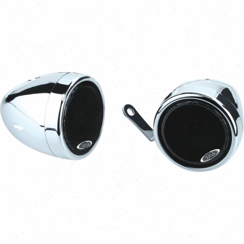 "Boss Audio 3"" Weatherproof Powered Speakers For Moorcycle Utvs Mc500"