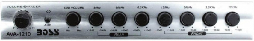 Boss Audio 7 Band Pre Amp Equalizer W/sub Output