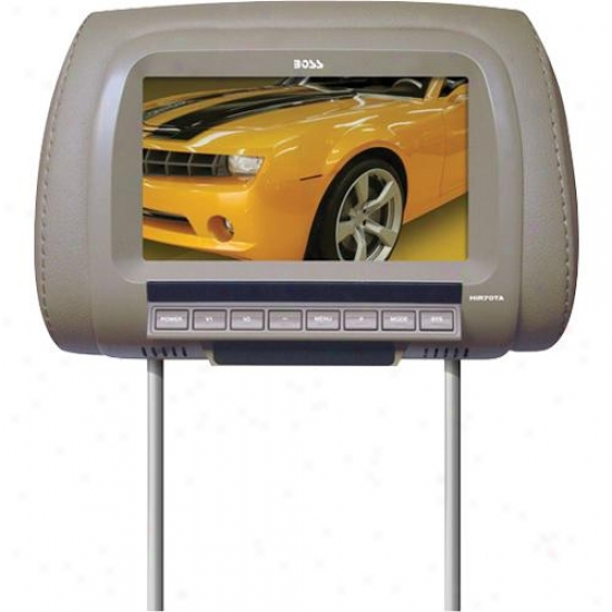 "Stud Audio 7"" Universal Headrest Featuring Pre-installed Tft Video Monitor. Sold"
