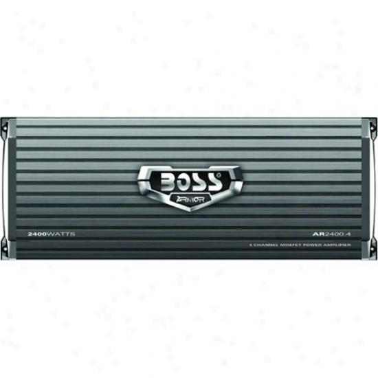 Boss Audio Armor 2400 Watt 4 Channel Mosfet Power Amplifier Ar2400.4
