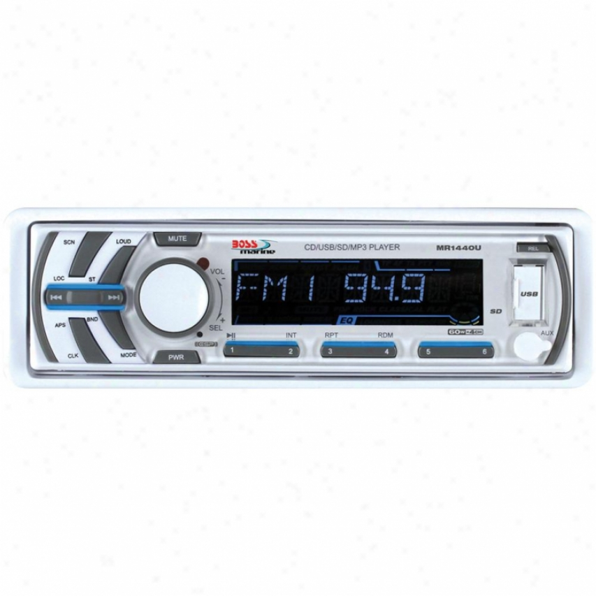 Boss Audio Boss Marine Mp3/cd/am/fm/aux 60wx4 White