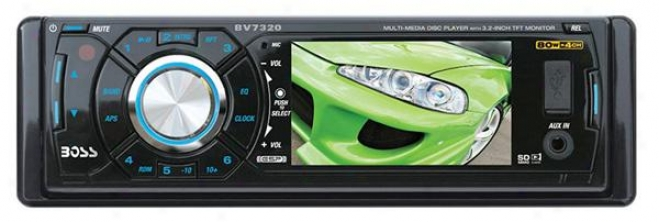 "Boss Audio Bv7320 Dvd/mp3/ccd Am/fm In-dash Car Receiver With 3.2"" Tft Monitor"