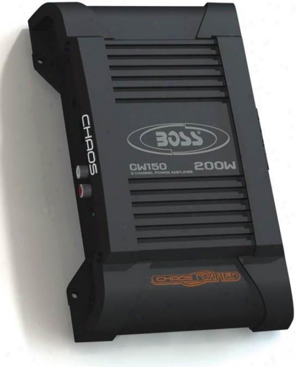 Boss Audio Chaos Wired, 200 Watt 2 Channel Power Amplifier