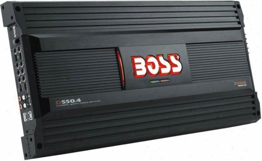Boss Audio Diablo 4-channel Moset Bridgeable 2200w Power Car Amplifier D550.4
