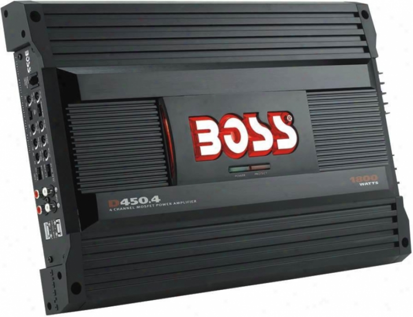 Boss Audio Diablo 4-channel Mosfett Bridgeable 1800w Power Car Amplifier D450.4