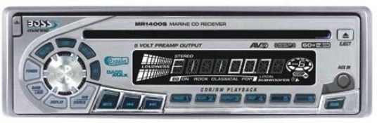 Protuberance Audio Marine Cd Reciever Silver Face