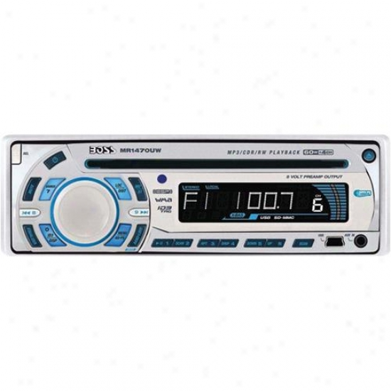 Boss Audio Marine In-dash Cd-mp3 Receiver Usb & Sd Card Ports White Mr1470uw