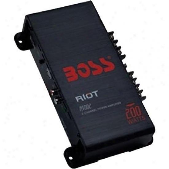 Boss Audio Riot 200 Watt 2 Channel Mosfet Amplifier R1002