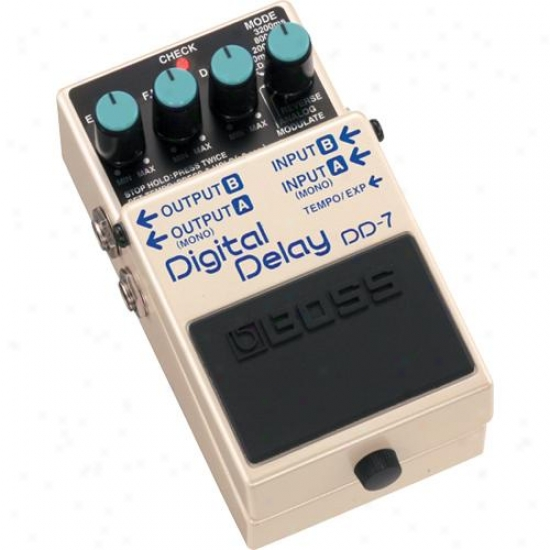 Boss Dd-7 Digital Procrastination Pedal For Musical Instrument