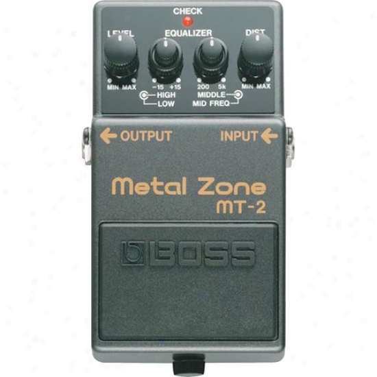 Boss Mt-2 Metal Zone Overdrive Distortion Pedal