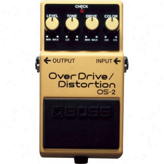 Boss Os-2 Overdrive And Distortion Pedal Fo Music Instrument