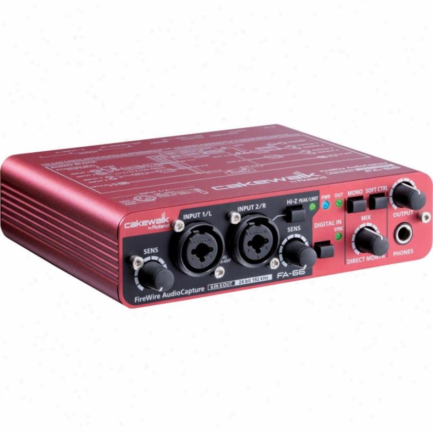 Cakewalk Fa-66 24-bit/192khz Firewire Aidip Capthre