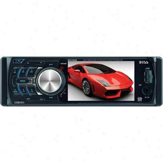 Car In-dash Dvd/mp3/cd Am/fm Receiver With 3.6 Screen