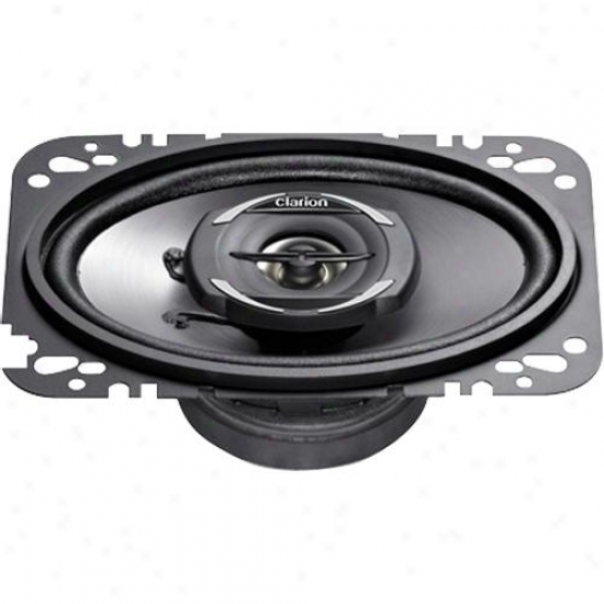 "Clarion 4 X 6"" Coaxial Car Speakers System Srg4622c"